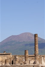 Preview iPhone wallpaper Italy, ruins, Pompeii, city