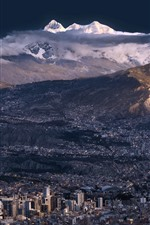 La Paz, Bolivia, city, mountains