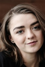 Preview iPhone wallpaper Maisie Williams 01