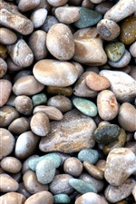 Preview iPhone wallpaper Many pebbles, stones, background