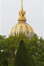 Paris, France, green trees