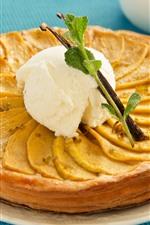 Preview iPhone wallpaper Pie, pancake, cream, food