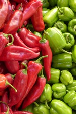 Red and green peppers, vegetable