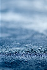 Preview iPhone wallpaper Road, water droplets, rain