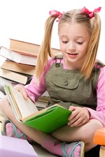 Preview iPhone wallpaper School girl reading books