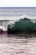 Preview iPhone wallpaper Sea waves, beach, water