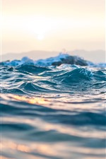 Preview iPhone wallpaper Sea waves close-up, hazy