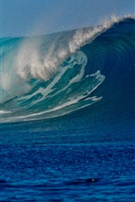 Preview iPhone wallpaper Sea waves, water splash, super power of nature