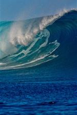 Sea waves, water splash, super power of nature