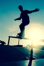 Preview iPhone wallpaper Skateboard, sport, silhouette