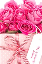 Some pink roses, gift, romantic