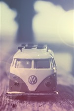 Preview iPhone wallpaper Toy car, hazy, light circles