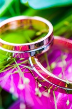 Preview iPhone wallpaper Two rings, romantic, flowers