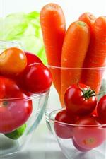 Vorschau des iPhone Hintergrundbilder Gemüse, Salat, Gurke, Zucchini, Tomaten