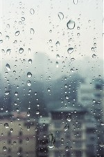 Preview iPhone wallpaper Window, glass, rain, water droplets