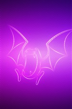 Preview iPhone wallpaper Abstract pokemon, flap beat wings, purple background