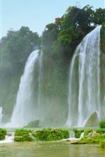 Preview iPhone wallpaper Beautiful waterfalls, great scenery
