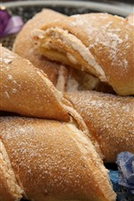 Preview iPhone wallpaper Bread roll, food