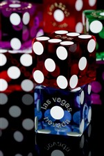 Preview iPhone wallpaper Colorful game dice