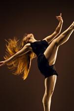 Preview iPhone wallpaper Dancing girl, legs, black skirt