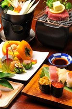 Preview iPhone wallpaper Delicious meal, cuisine, Japanese kinds