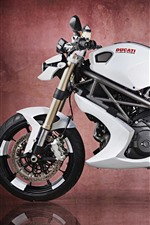 Preview iPhone wallpaper Ducati Monster 1100 EVO motorcycle