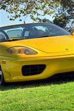 Preview iPhone wallpaper Ferrari 360 yellow convertible