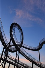 Preview iPhone wallpaper Germany, Duisburg, roller coaster