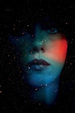 Preview iPhone wallpaper Girl, face, starry, creative picture