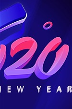 Preview iPhone wallpaper Happy New Year 2020, art picture, creative
