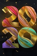 Feliz Ano Novo 2020, colorido, criativo