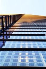 High building, windows, glass, sunshine