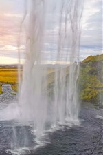 Preview iPhone wallpaper Iceland, waterfall, river