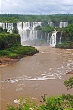 Preview iPhone wallpaper Iguazu Waterfalls, Brazil