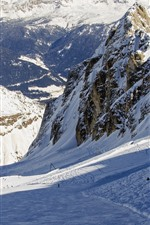 Preview iPhone wallpaper Italy, Alps, snow, mountains, winter