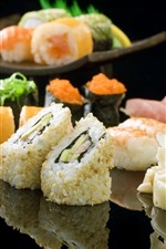 Preview iPhone wallpaper Japanese food, sushi, meat