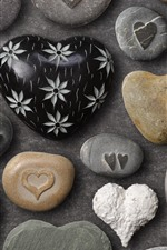 Preview iPhone wallpaper Love heart stones, craft