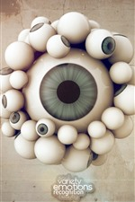 Preview iPhone wallpaper Many eyes, creative picture