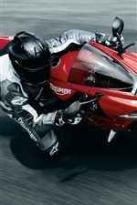 Preview iPhone wallpaper Motorcycle, speed, sport, road