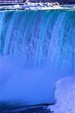 Preview iPhone wallpaper Niagara Falls, Canada, snow, ice, winter