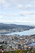 Preview iPhone wallpaper Norway, city, top view, sea