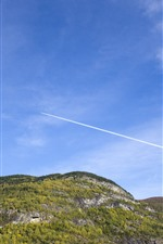 Preview iPhone wallpaper Norway, mountains, blue sky