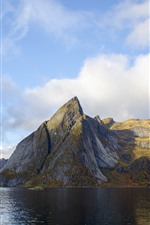 Preview iPhone wallpaper Norway, mountains, sea, nature landscape