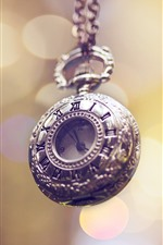 Preview iPhone wallpaper Pocket watch, light circles