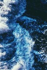 Preview iPhone wallpaper Sea waves, foams, water, splash