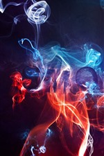 Preview iPhone wallpaper Smoke or fire, abstract background