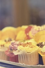 Preview iPhone wallpaper Some cakes, cream, hazy