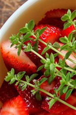 Preview iPhone wallpaper Strawberries, fruit dessert