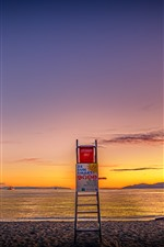 Preview iPhone wallpaper Third Beach, Vancouver, sea, coast, sunset, Canada