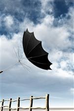 Preview iPhone wallpaper Umbrella, sky, clouds